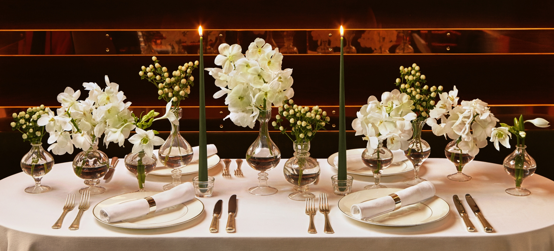 Winter Whites Tablescape