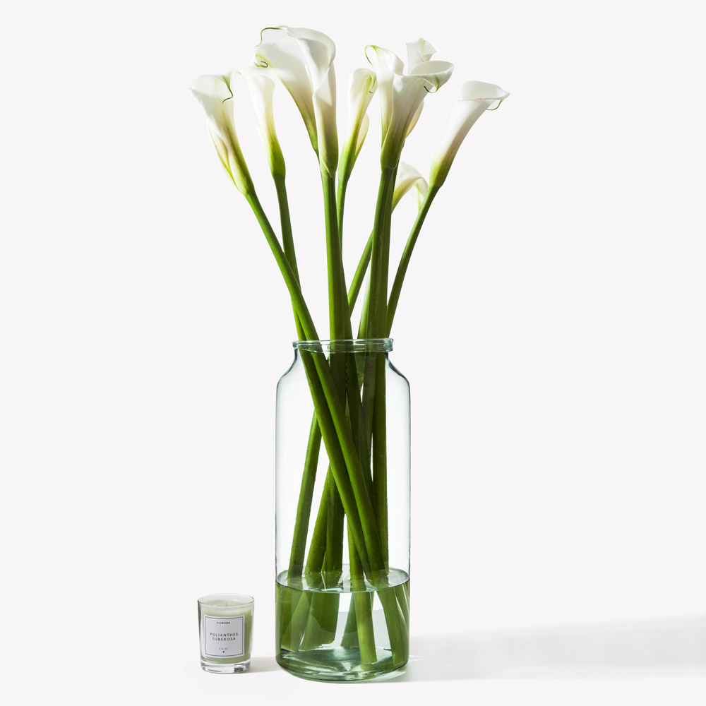 White dove arum lily flowers flowerbx this product is made up of 10 stems izmirmasajfo