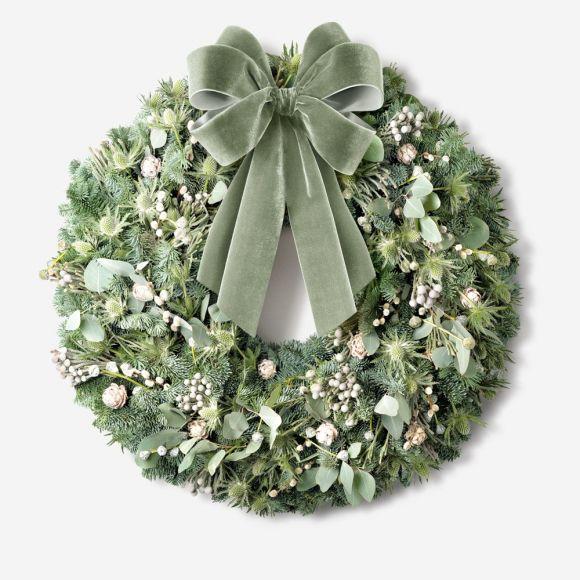 Berried Eucalyptus Outdoor Wreath Wreaths And Garlands Holiday Flowerbx Uk