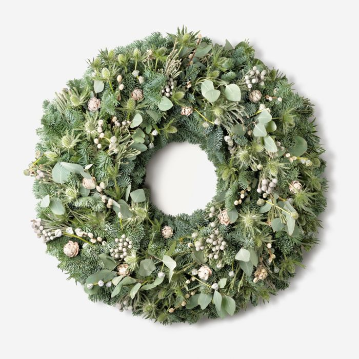 Winter White Outdoor Wreath Wreaths And Garlands Natural Handmade Wreaths Flowerbx Uk