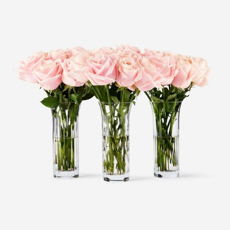 30 stems in Baccarat Vases