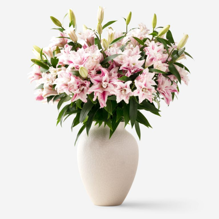 10 stems shown in large mayfair vase