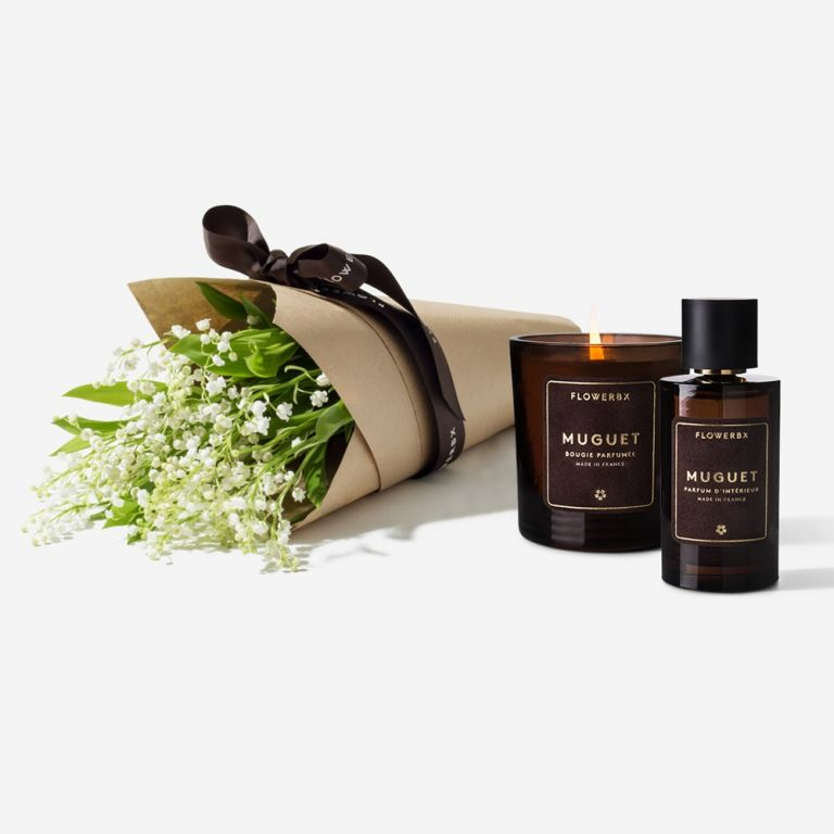 Bridal White Lily of the Valley, Candle & Room Spray Set