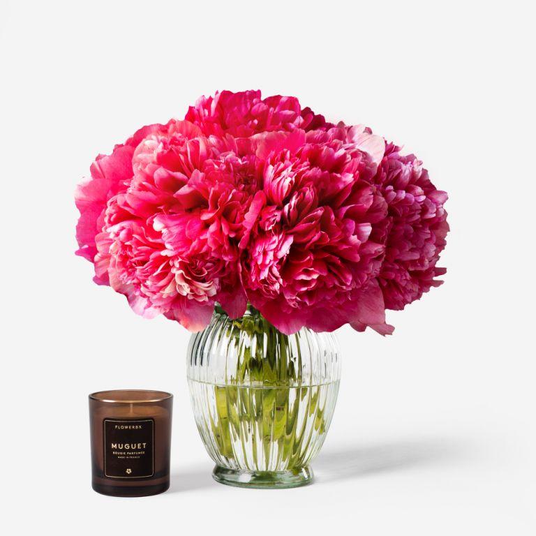 Vase Set Framboise Peony