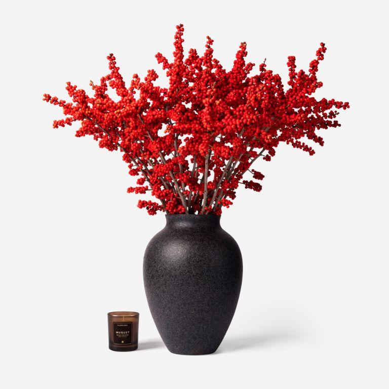 Large Mayfair Ilex Vase Set