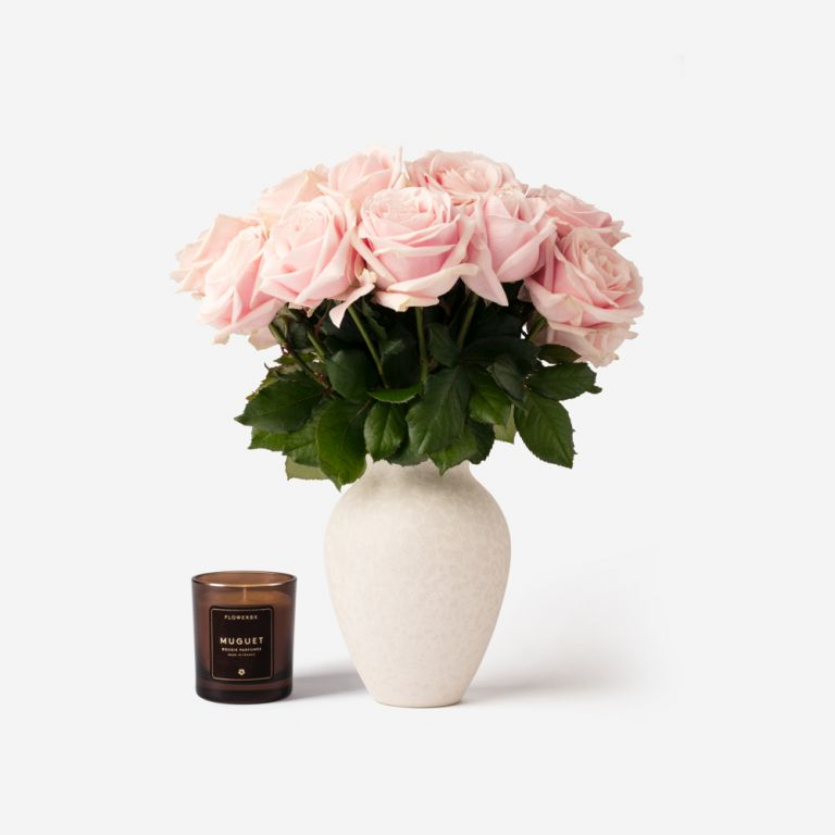 Small Mayfair Rose Vase Set