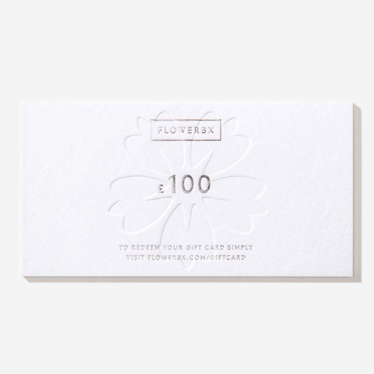Carte cadeau FLOWERBX 100 €