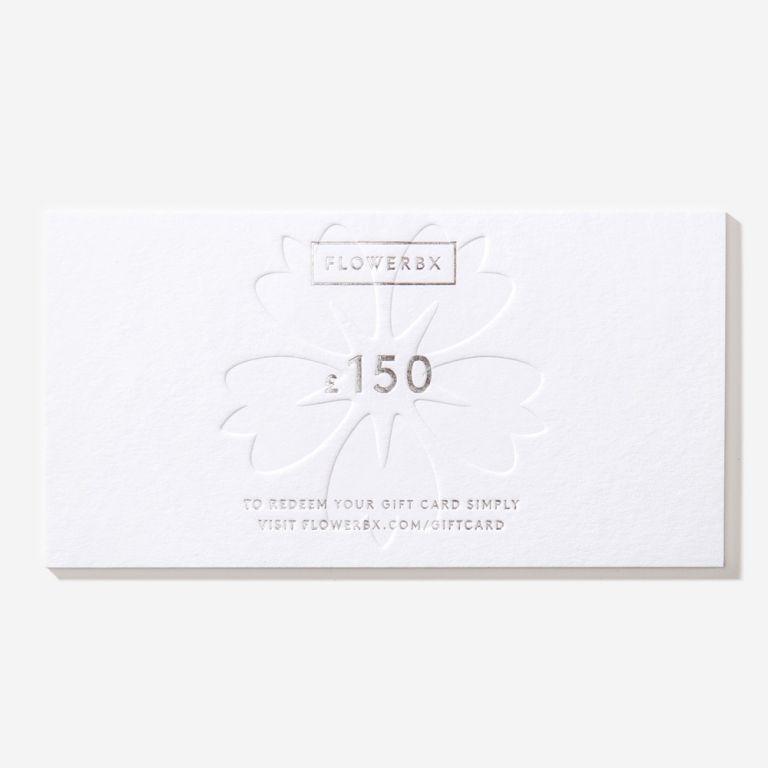 Carte cadeau FLOWERBX 150 €