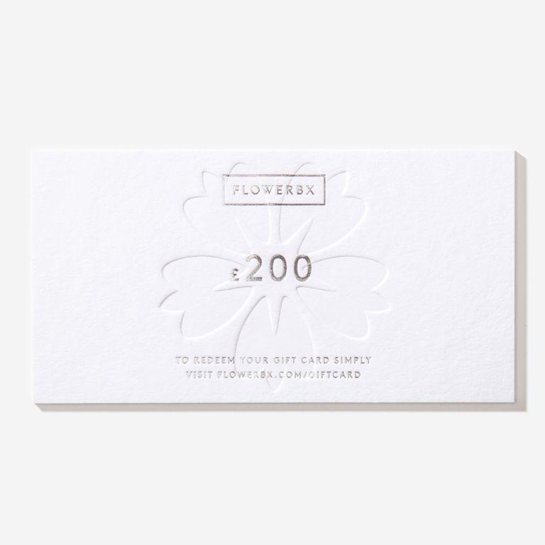 Carte cadeau FLOWERBX 200 €