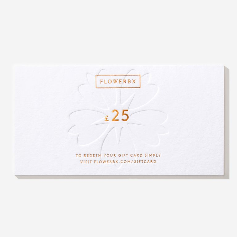 Carte cadeau FLOWERBX 25 €