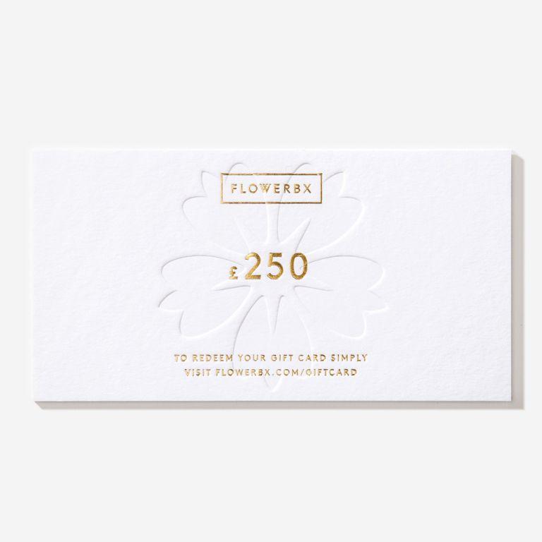 Carte cadeau FLOWERBX 250 €