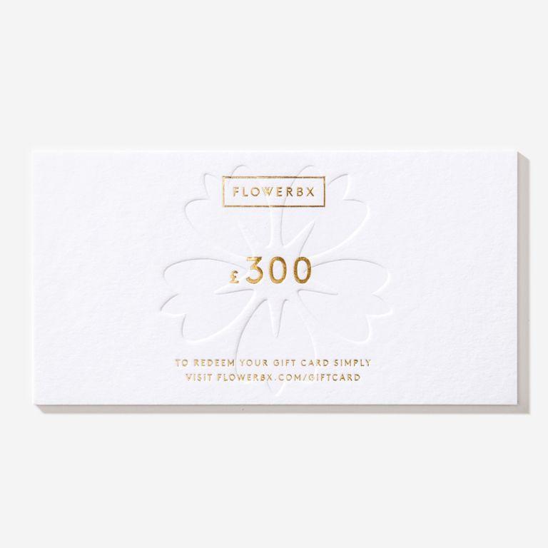 Carte cadeau FLOWERBX 300 €