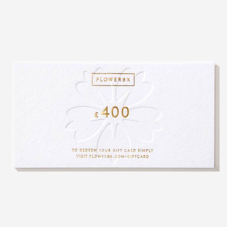 Carte cadeau FLOWERBX 400 €
