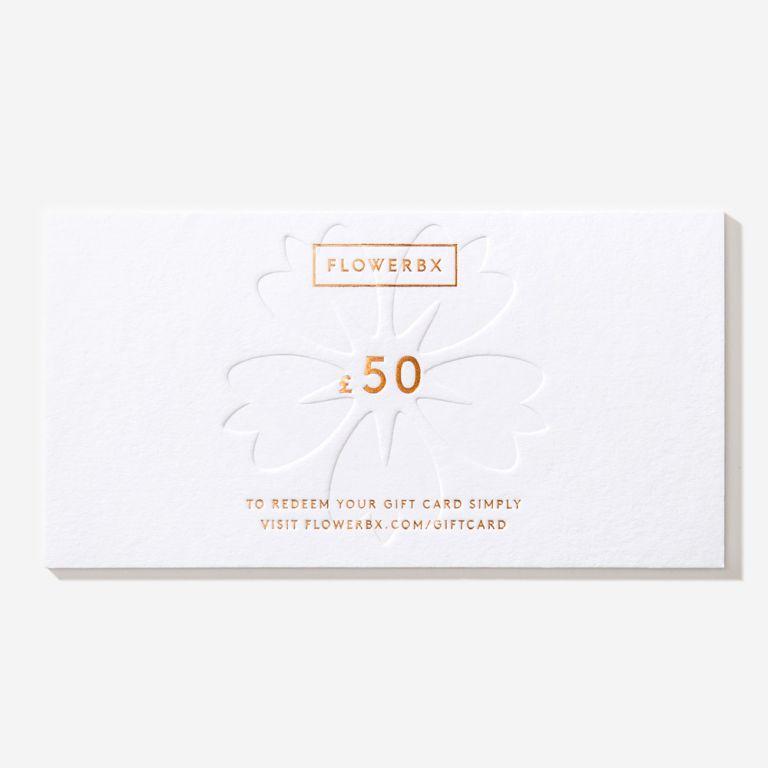 Carte cadeau FLOWERBX 50 €