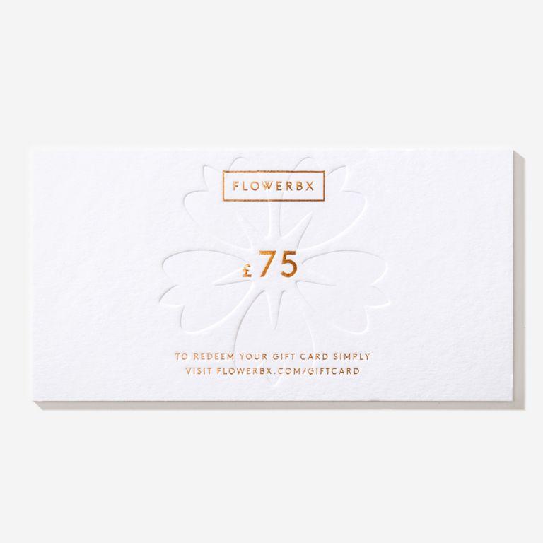 Carte cadeau FLOWERBX 75 €