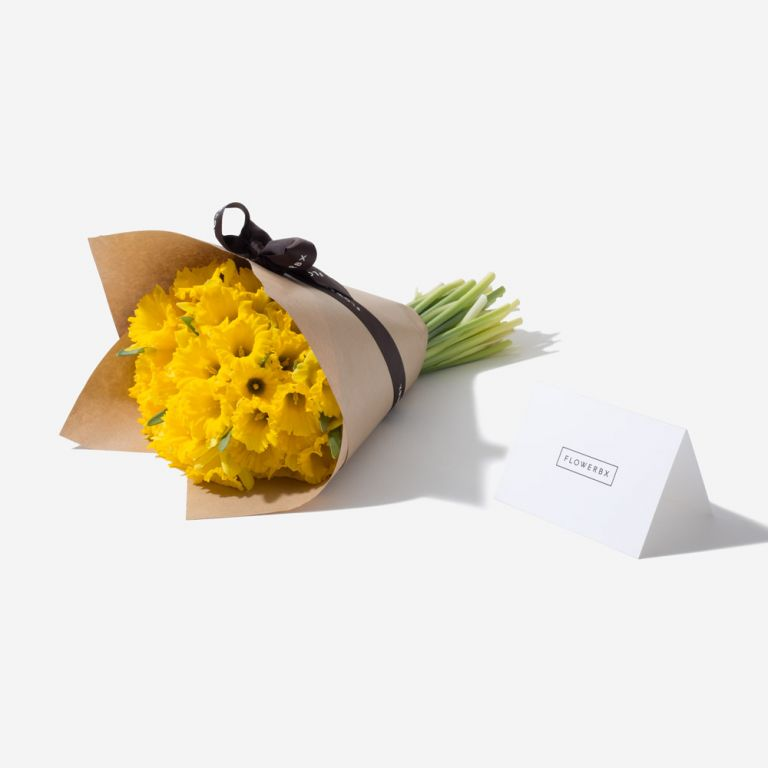 Buttery Blonde Daffodil Gift and Vase Set