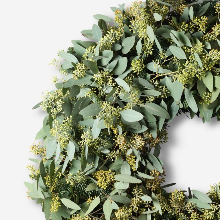 Berried Eucalyptus Outdoor Wreath