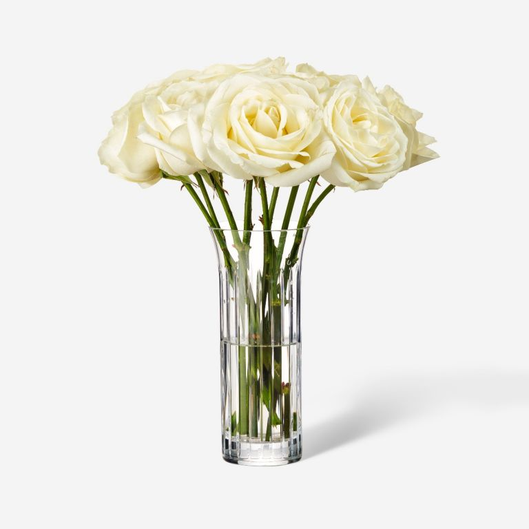 Single Baccarat Rose Vase Set-Ivory Avalanche