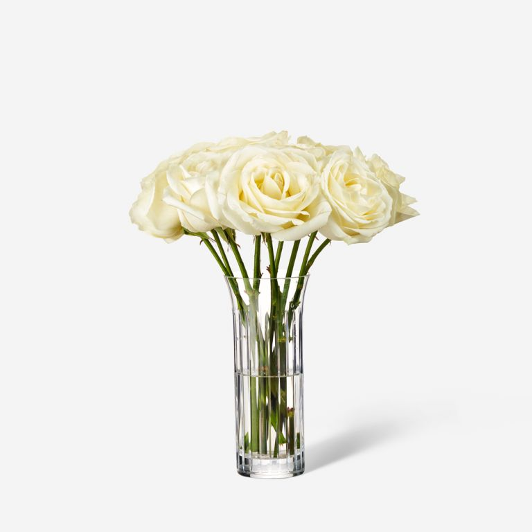 10 stems in a Single Baccarat Vase
