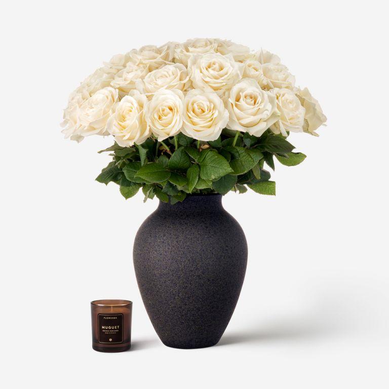 30 stems in a Medium Mayfair Vase
