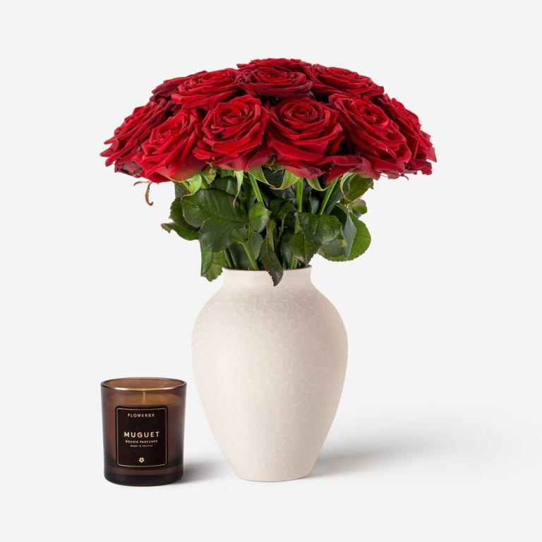 Small Mayfair Blanc Vase
