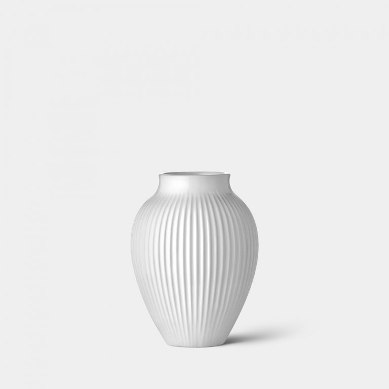 Petit Ridged Mayfair White Vase