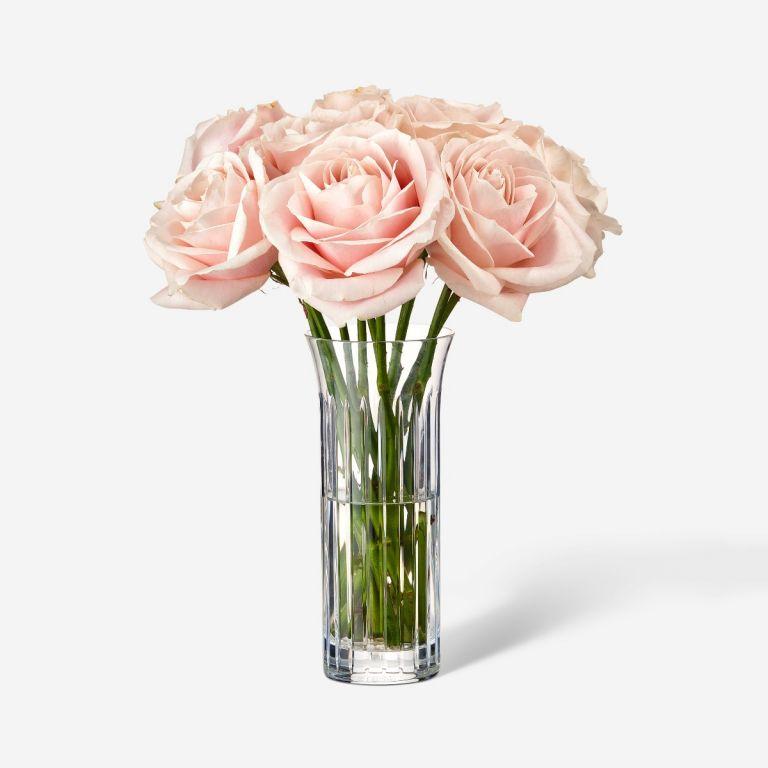 Single Baccarat Rose Vase Set-Pink Sweet Avalanche