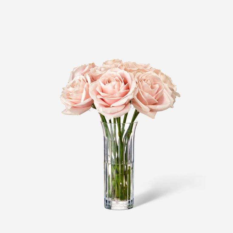 Single Baccarat Rose Vase Set