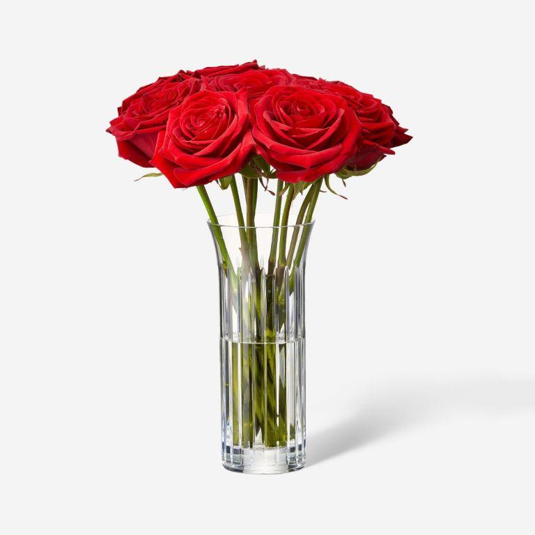 Single Baccarat Rose Vase Set-Red Naomi
