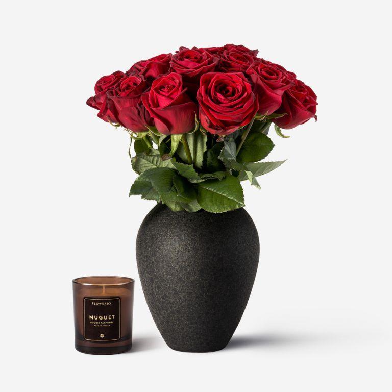 Set de Rose et Vase Mayfair Petit