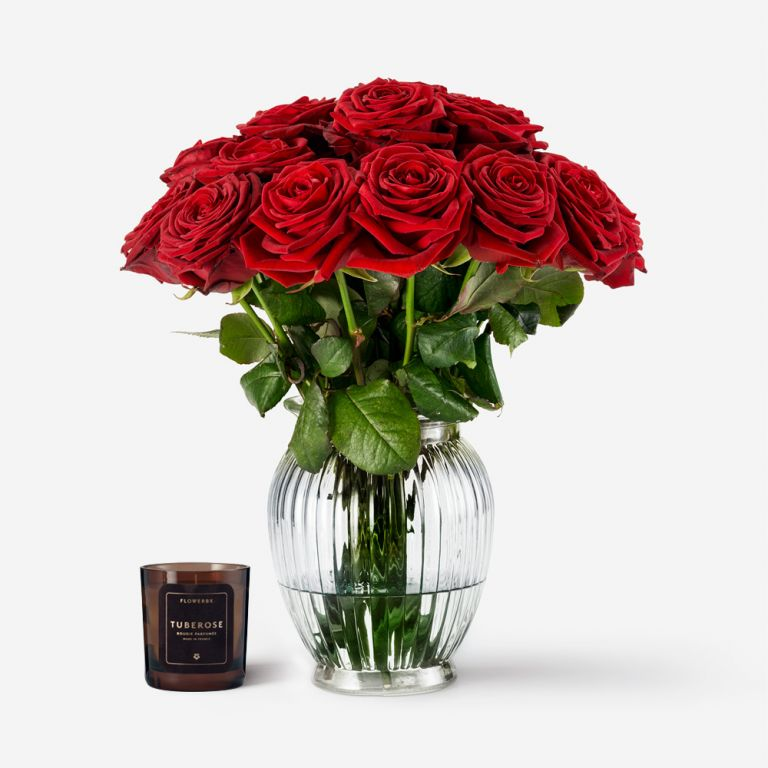 Rose and Candle Gift Set