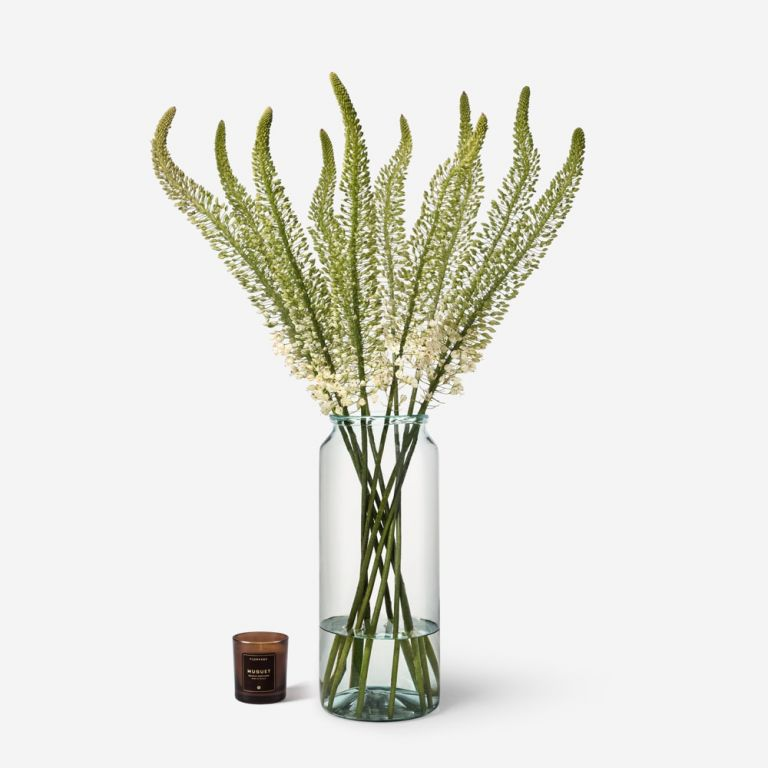10 stems in a Tall Apothecary vase