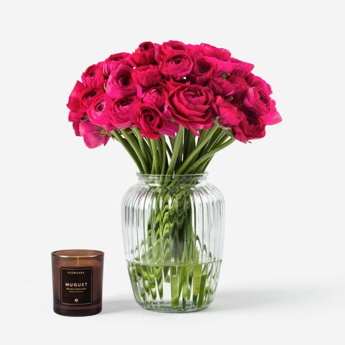 Schiaparelli Pink Italian Ranunculus Flowers Flowerbx